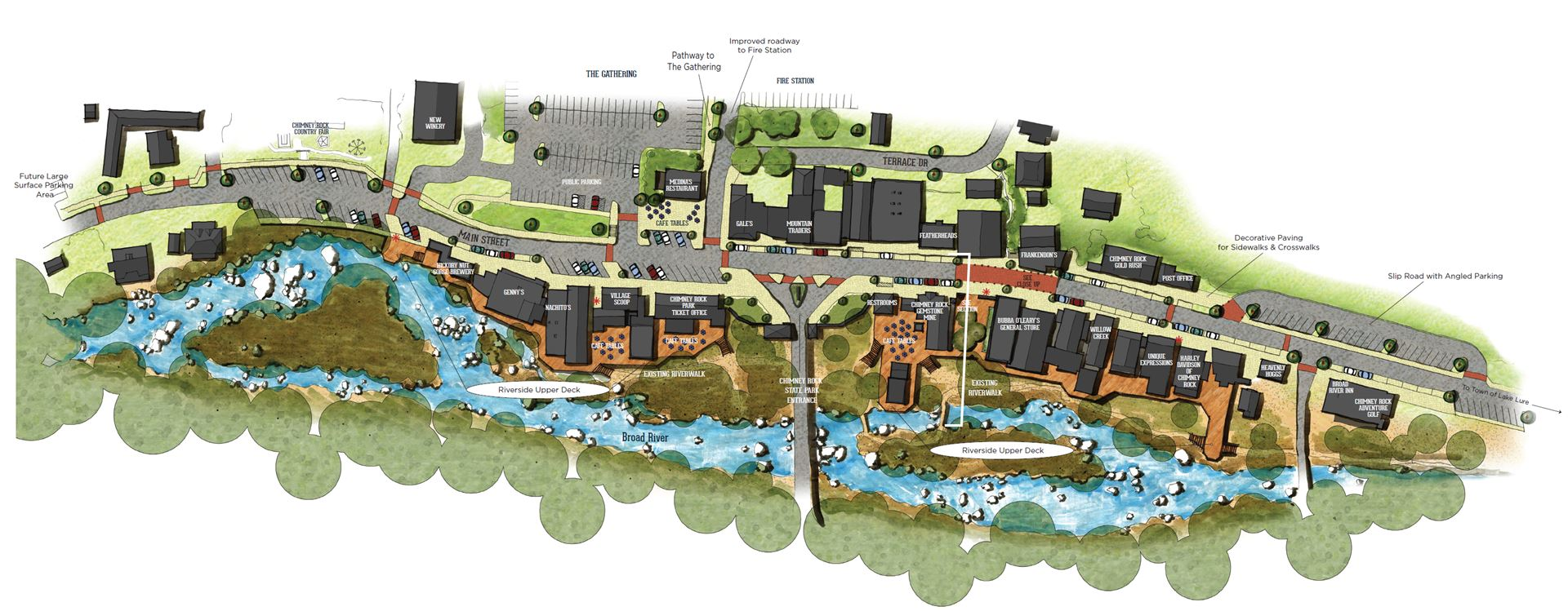 chimney rock village plan